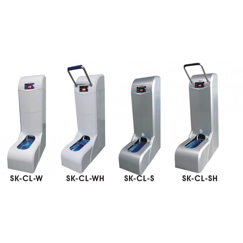 Automatic machine for putting on shoe covers SK-CL